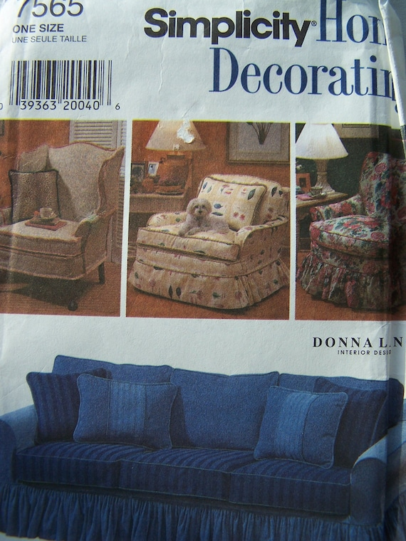 Furniture Slipcovers Sewing Pattern Chair Cover Sofa
