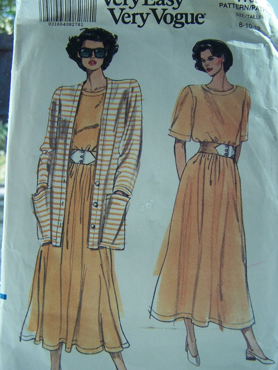 CLEARANCE Vogue 7752 Sewing Pattern - Very Easy -  Misses' Jacket, Top, Skirt