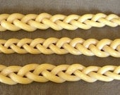 braided beeswax Havdalah candle - 3 wick