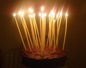 beeswax birthday candles - pack of 20