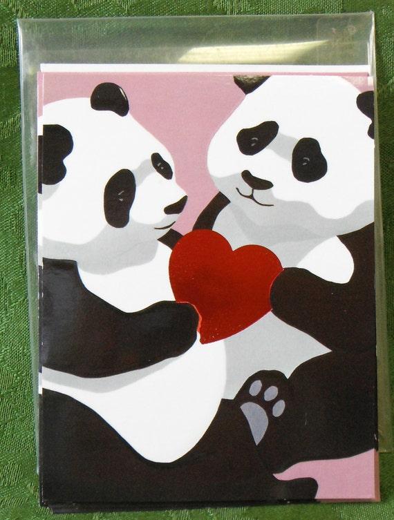 Large Lot of Vintage Panda Greeting Cards circa 1980s