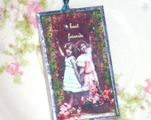 Best Friends in the Garden - Postcards from Heaven - Soldered Ornament