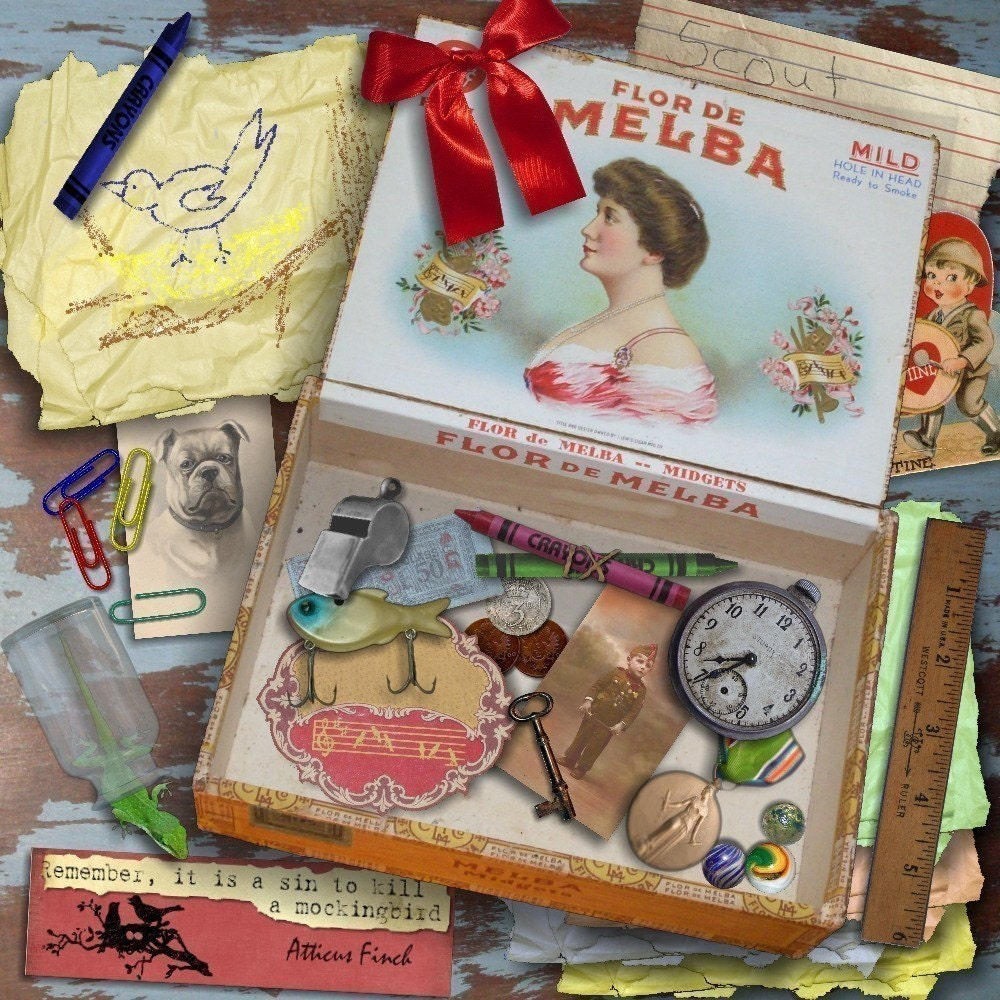 How to scrapbook a box -  Zoom