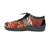 VTG Tapestry KILIM Lace Up Sneakers 8.5 9