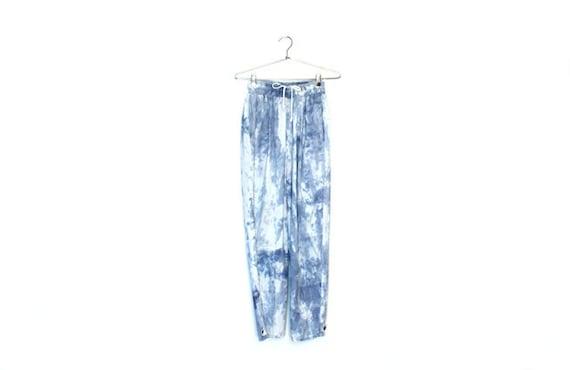 Pale Indigo Tie Dye Cotton Pants