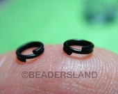 Clearance Sales / C111BP / 12Gm *354Pc / D4mm - Matte Black Plated Split Rings / Double Rings Findings