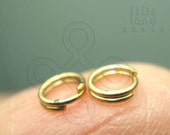 Clearance Sales / C111GA / 12Gm *358Pc / D4mm - Antique Gold Plated Petite Split Rings/ Double Rings Findings.