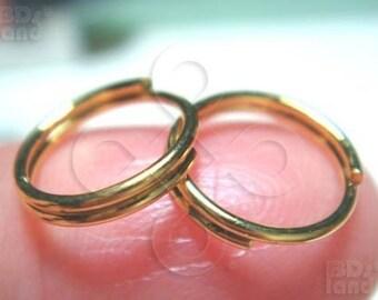 sales / C104GD / 12Gm *58Pc / Diameter 9mm - Gold Plated Split Rings / Double Rings Findings.