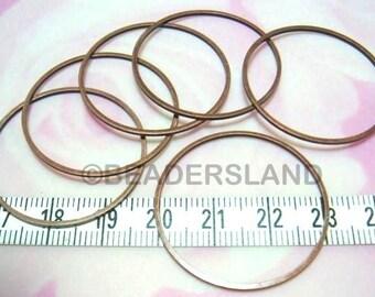 restock / C114BZ / 24 Pc / Dia. 32 mm - Antique Copper Plated Square Profile Closed Ring