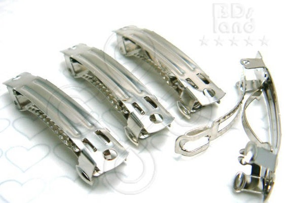 last pack -50% / H201NC / 8Pc / Length 40mm - French Barrette Style Hair Clip