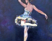 Ballet Dancer reproduction digital print by Pacific Northwest artist, Carrie Goller