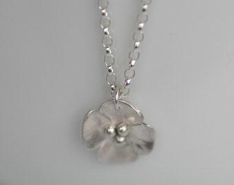 Silver Buttercup Drop pendant