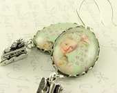 Let Them Eat Cake - Marie Antoinette Earrings with Cake Charms
