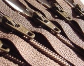 Ykk Zippers- 7 inch- Chocolate Brown 009- 10 pieces
