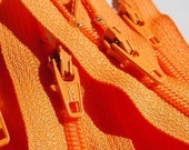 Zippers- YKK 9 Inch closed bottom skirt and dress zippers- Orange 006- (10) Pieces