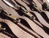 Wholesale Twenty-five Chocolate Brown 8 Inch Zippers YKK Color 009