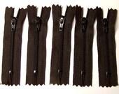 SALE Twenty-five 4 Inch  YKK Zippers Color 580 BLACK