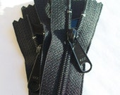 10 Black 10 Inch Color 580 Ykk Long Pull Purse Zippers