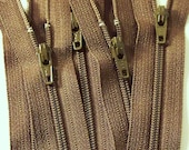 SALE Wholesale 100 9 Inch Chocolate Brown Zippers YKK Color 009