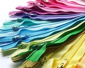 SALE 25 Assorted 7 Inch YKK Zippers