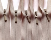16 Inch Invisible Zippers YKK Color 572 Beige 10 Pieces