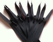 14 Inch INVISIBLE Zippers YKK 10 Pieces Color 580 BLACK