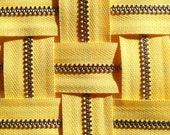 Metal Zippers- YKK closed bottom nickel teeth zips- (5) pieces - Dandelion Yellow 131- Available in 6, 7,9, 12, 14 and 18 Inches