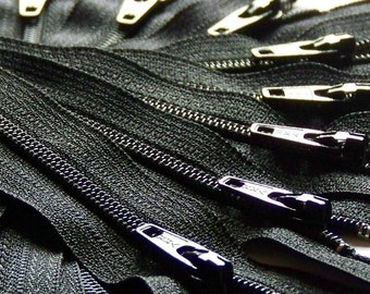 Ykk Zippers SALE (25) 9 Inch Black Color 580