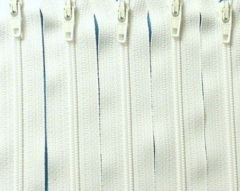 Ykk Zippers- 24 Inch White Color 501- 5 zippers