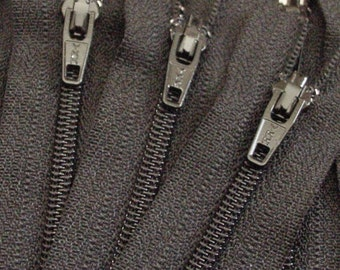 Ten Black 8 Inch Zippers YKK Brand Color 580
