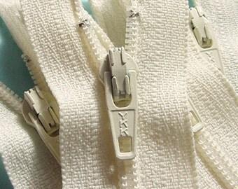 50 Vanilla 4 Inch YKK Zippers Color 121