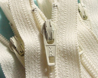 25 Vanilla 9 Inch Zippers YKK Color 121