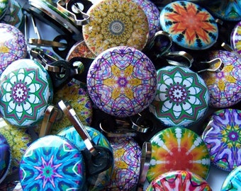 5 Assorted Kaleidoscope Zipper Pulls