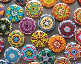 5 Assorted Kaleidoscope Zipper Pulls NEW DESIGNS - Pinwheel Collection