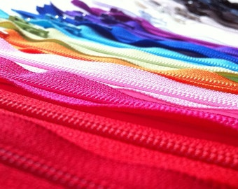 100 Assorted 18 Inch YKK Closed Bottom Zippers