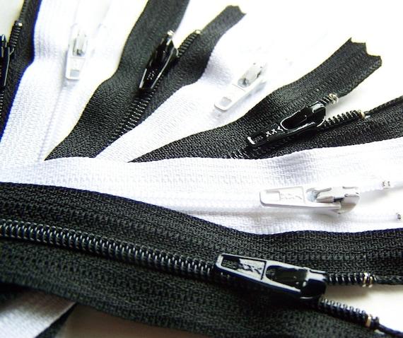 YKK Zipper 7  Inch Black and White Bundle 20 pcs