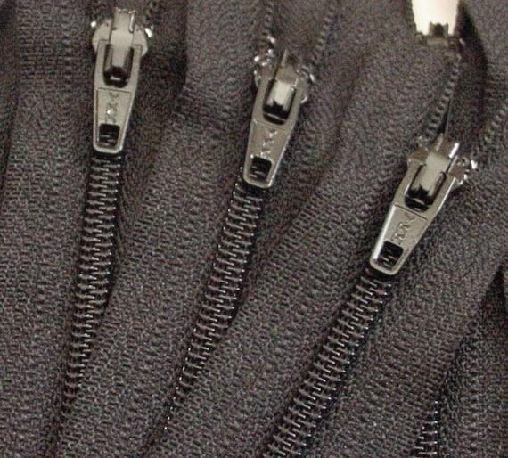 Ten Black 8 Inch Zippers YKK Brand Color 580