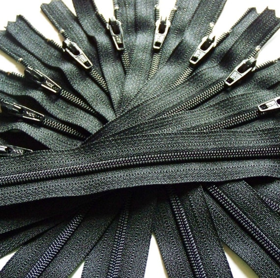 14 Inch Black Zippers - YKK Color 580 - Qty(10)