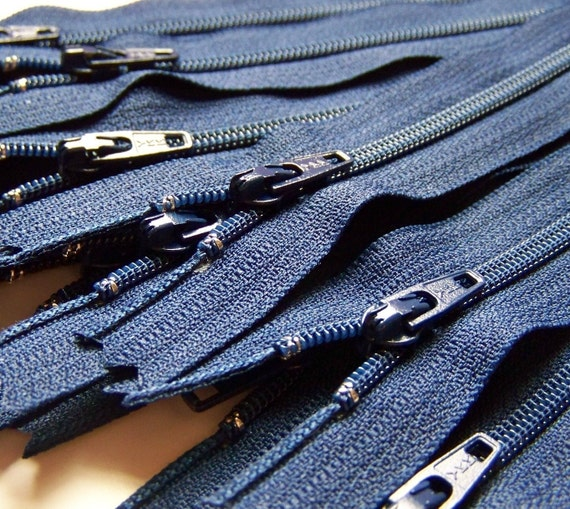 Ten 10 Inch Navy Blue YKK ZippersColor 919