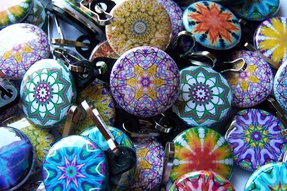 5 Assorted Kaleidoscope Zipper Pulls