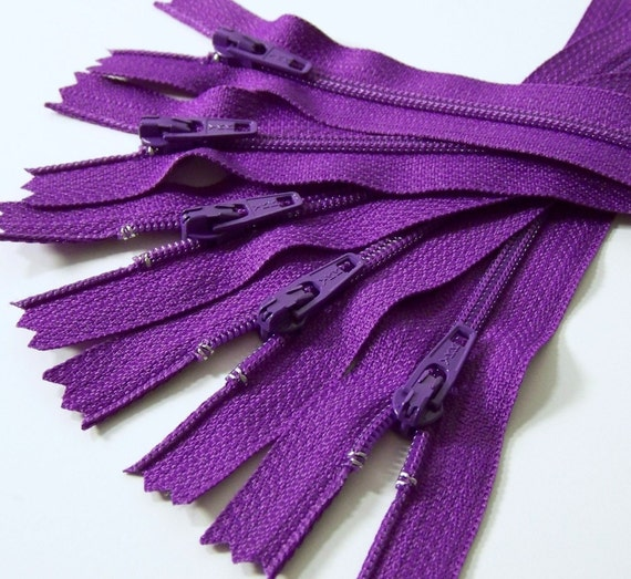 Handmade spark zip it zippers 25 ykk 8 inch zippers - Does brown and purple match ...
