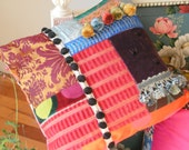 Pillow cover  bright color block patchwork
