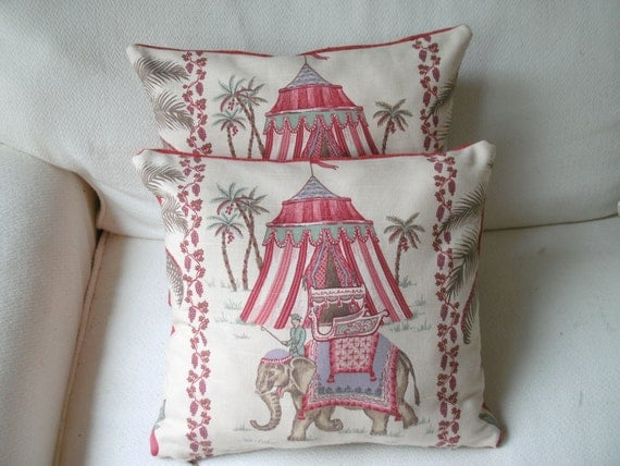 traditional  pillow covers elephants
