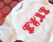 OHIO Babies- White and Red Baby Onesie  Newborn, 6 months, 12 months and 18 months