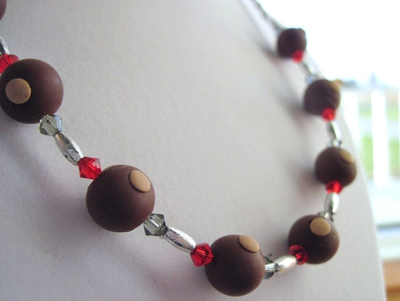 Buckeye Necklace with Swarovski Crystals