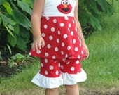 custom boutique outfit made with elmo patch 2-6