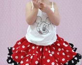 Custom Boutique Minnie Mouse Inspired Twirl Skirt 6 month- 6x