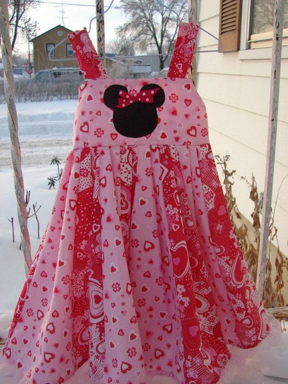 Custom Boutique Disney Minnie Mouse Valentine Twirl Dress 2T-6X RESERVED