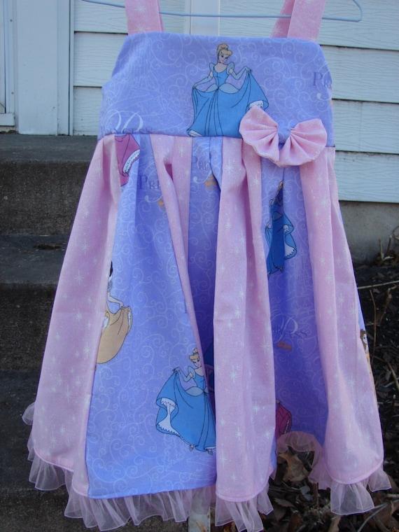Custom Boutique Twirl Dress Designed With  Disney Princess Fabric  2-6X