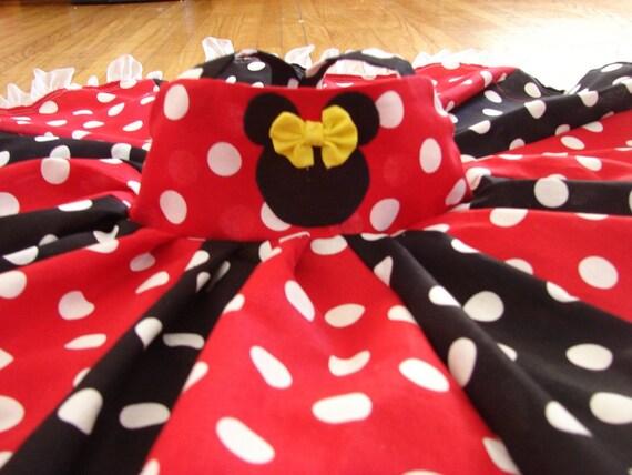 custom boutique disney minnie mouse inspired twirl dress 2-6